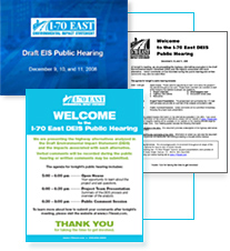December 9, 10 and 11, 2008 Corridor-Wide Public Meetings (thumbnail of meeting materials)