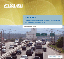 The I-70 East DEIS Document: Volume 1 - DEIS (thumbnail of cover)
