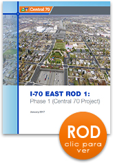 I-70 Este - Registro de Decisiones (ROD abreviación en inglés) (thumbnail of cover)