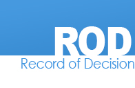 Record of Decision (ROD) Document