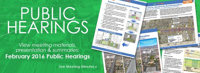 PUBLIC HEARINGS - View Meeting Materials and Presentation from the February 2016 Public Hearings. See Meeting Minutes