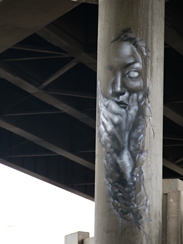 Photo of final mural artwork painted under the I-70 viaduct during the 'duct-work Event (October 6, 2016).