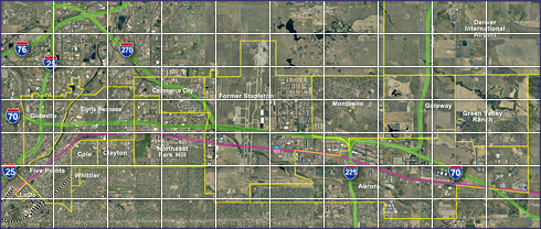 I-70 East EIS Study Area Map - click to view enlargements