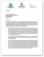 Letter of Support from Adams County, the City and County of Denver, and Commerce City (thumbnail of letter)