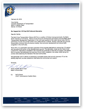 Letter of Support from the North Area Transportation Alliance (NATA), v (thumbnail of letter)