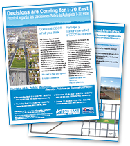 I-70 East EIS Newsletter, Volume 8, Spring 2013 (thumbnail of newsletter)