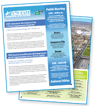 I-70 East EIS Newsletter, Volume 9, Autumn 2014 - CDOT announces the release of the I-70 East Supplemental Draft EIS (thumbnail of newsletter)