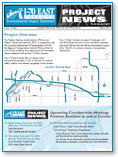 I-70 East Corridor EIS Project News, Issue 1, Number 1, February 2004 (thumbnail of newsletter)
