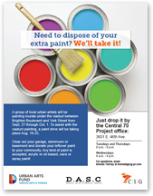 Flyer: I-70 Viaduct Paint Drive: Need to dispose of your extra paint? We'll take it! (August 16 to 25, 2016) (thumbnail)
