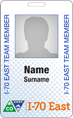 I-70 East EIS Team Member ID Card - project team members will have project identification cards like the one shown here