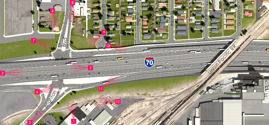 Visualization of the I-70 East Preferred Alternative - Brighton Boulevard Interchange