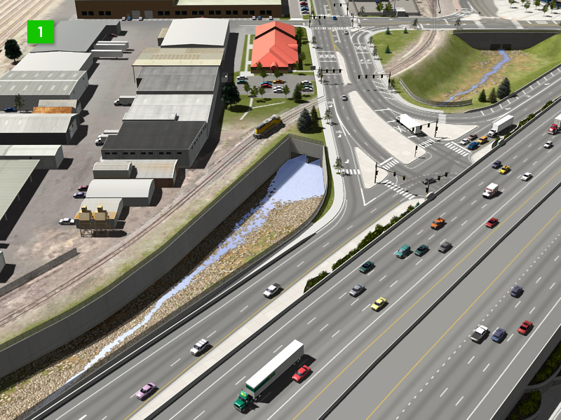 Brighton Boulevard Interchange - Detention Ponds