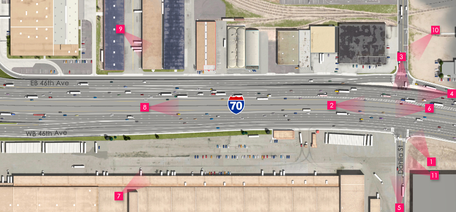 Visualization of the I-70 East Preferred Alternative - Dahlia St Interchange Underpass