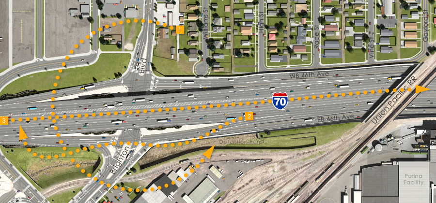 Visualization of the I-70 East Preliminarily Identified Preferred Alternative - Brighton Boulevard Interchange Animation