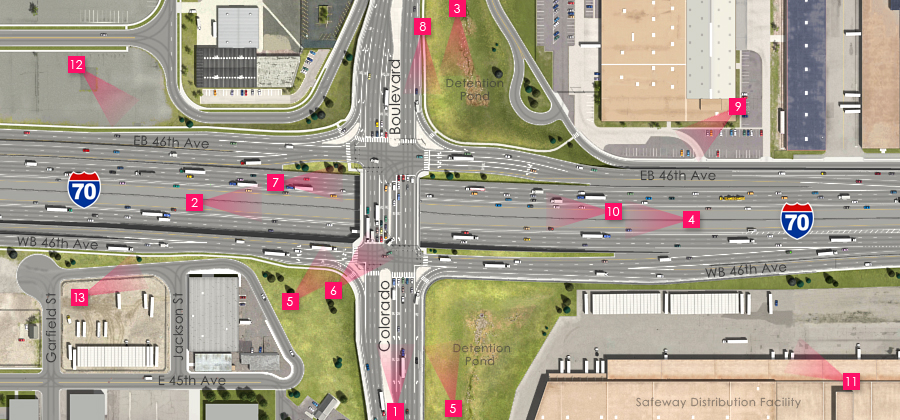 Visualization of the I-70 East Preferred Alternative - Colorado Boulevard Interchange