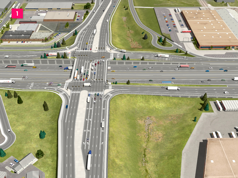 Partial Cover Lowered Alternative - Colorado Boulevard Interchange