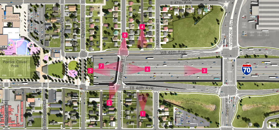 Visualization of the I-70 East Preferred Alternative - Fillmore Street Overpass