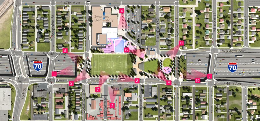 Visualization of the I-70 East Preferred Alternative - Partial Cover Park
