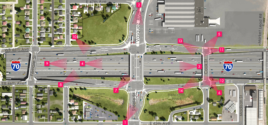 Visualization of the I-70 East Preferred Alternative - Steele Street/Vasquez Boulevard Interchange and Cook Street Overpass